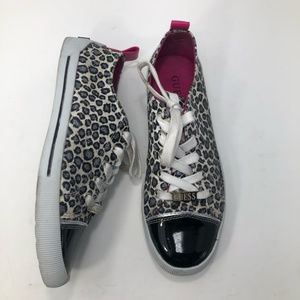 Guess Sparky Leopard Print Trendy Tennis Shoes